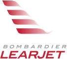 Bombardier Learjet logo, a manufacturer carried by Mid-State Aerospace Inc.