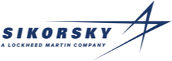 Sikorsky A Lockheed Martin Company logo, a manufacturer carried by Mid-State Aerospace Inc.