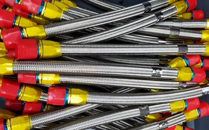 Parker Stratoflex 156-10 hoses Custom on-site fabricated hose assemblies for industrial and military aerospace hose assemblies by mid-state aerospace